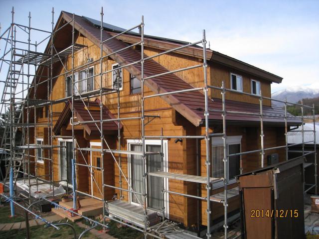 北杜市S様邸塗装工事開始