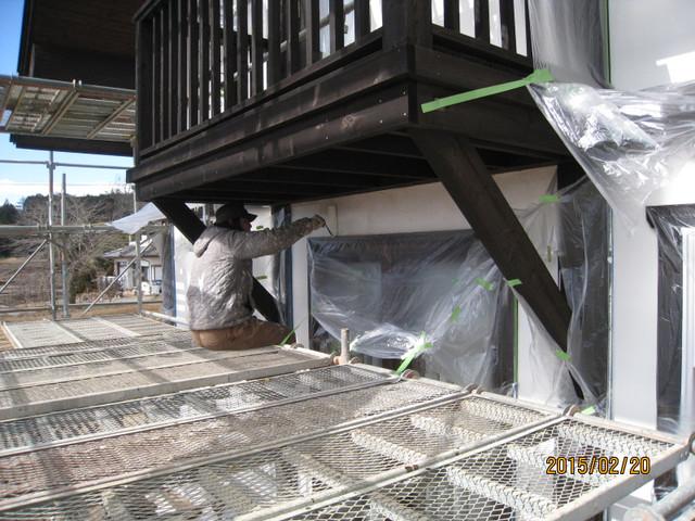 北杜市K様邸外部塗装工事