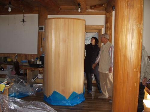 2012/12/26 五風十雨農場のマニ車納品しました。