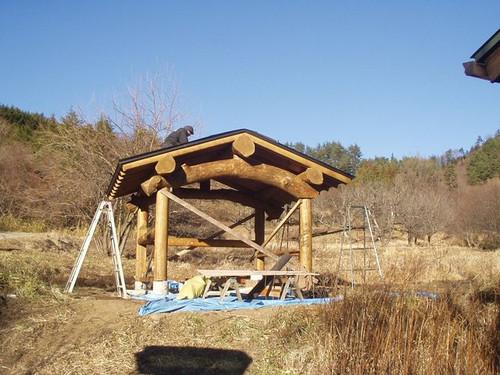 2012/12/20 五風十雨農場小屋移築中