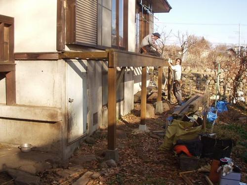 2012/12/03  北杜市KK様邸デッキ改修工事