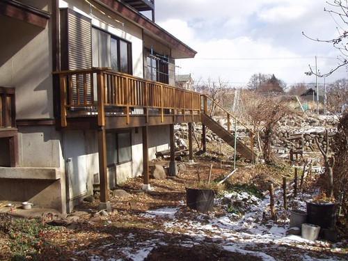 2012/12/10  北杜市KK様邸デッキ改修工事完成