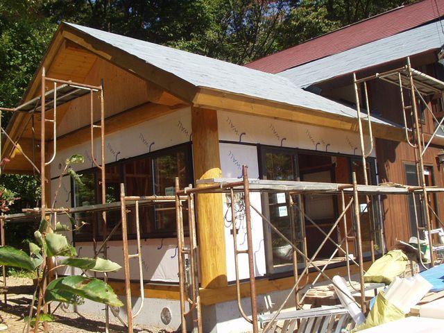 2012/10/16 北杜市TT様邸増改築工事、外壁施工中です。