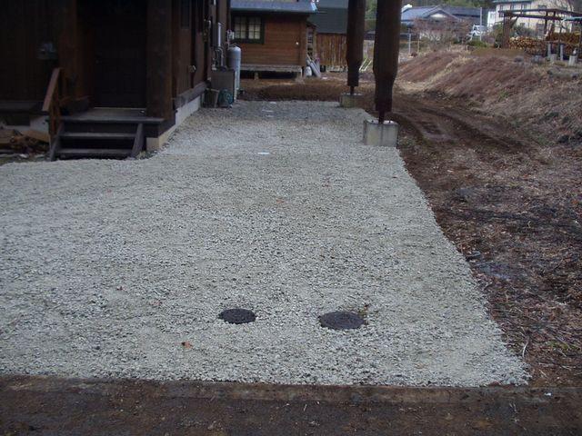 2012/03/29 北杜市Y様邸下水道繋ぎ込み工事完成